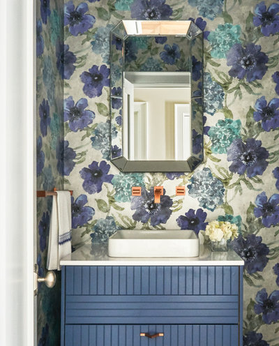 Beach Style Powder Room by Doyle Coffin Architecture LLC