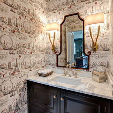 Traditional Powder Room by Lewis Giannoulias (LG Interiors)