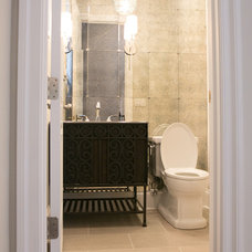 Contemporary Powder Room by Tandem Architecture & Construction