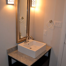 Contemporary Powder Room by Keen Homes