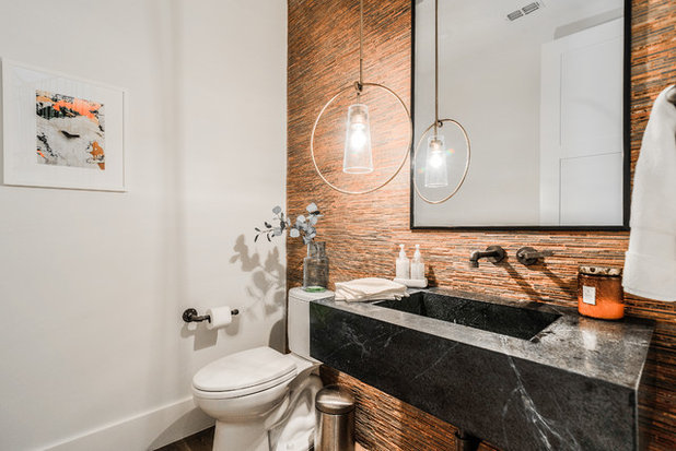 Contemporary Powder Room by Urbanology Designs