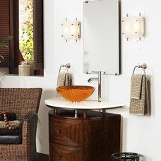 Eclectic Powder Room by Lamps Plus