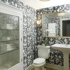 Traditional Powder Room by Enviable Designs Inc.