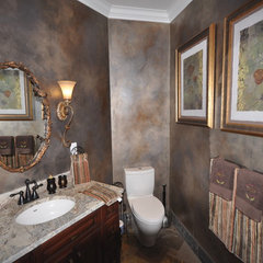 traditional powder room by Clay Construction Inc.