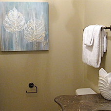 Traditional Powder Room by NexTrend Design