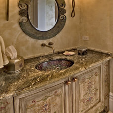 Traditional Powder Room by Paintniques