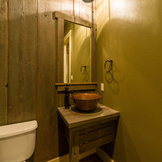 Farmhouse Powder Room by Agave Custom Homes