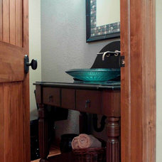 Traditional Powder Room by Thelen Total Construction