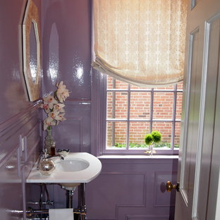 Inspiration for a traditional powder room in Baltimore.