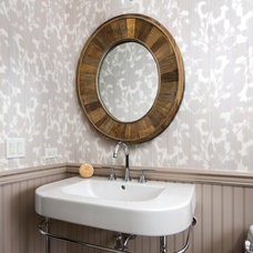 Contemporary Powder Room by Black General Contracting