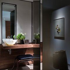 modern powder room by R Brant Design