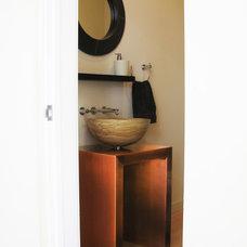 Modern Powder Room by kimberly peck architect