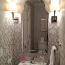 Traditional Powder Room by Staging North Shore