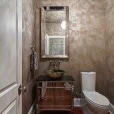 Eclectic Powder Room by Jane Kelly, Kitchen and Bath Designer