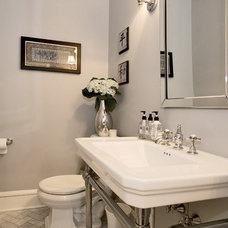 Traditional Powder Room by Blackrock Designs, llc