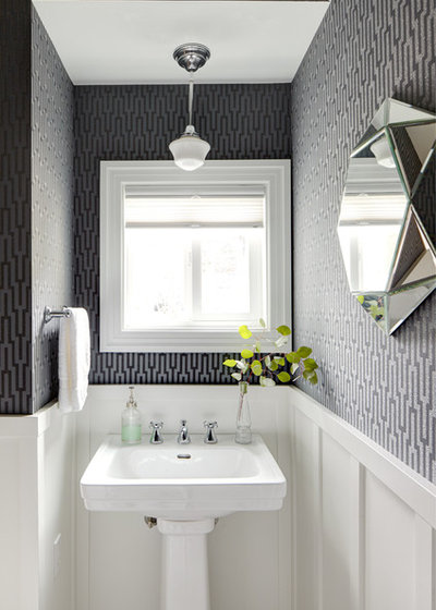 Traditional Powder Room by Brio Interior Design