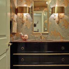 Traditional Powder Room by Leslie Hayes Interiors