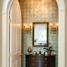 Contemporary Powder Room by Leslie Hayes Interiors