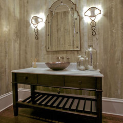 contemporary powder room by LG Construction + Development