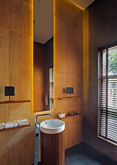 Tropical Powder Room by Shamanth Patil Photography