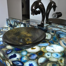 Powder Room by Venetian Stone Gallery