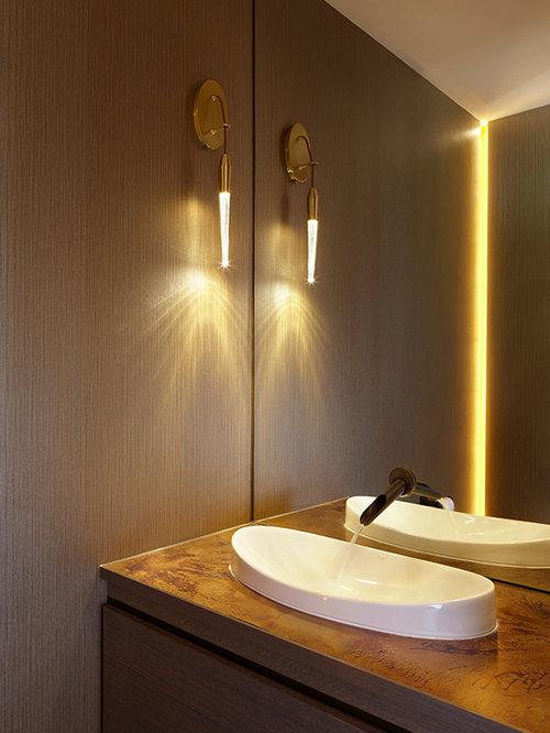 moderne g stetoilette g ste wc mit kupfer waschbecken waschtisch ideen f r g stebad und. Black Bedroom Furniture Sets. Home Design Ideas