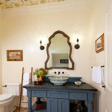Farmhouse Powder Room by Joann Fullen Interiors