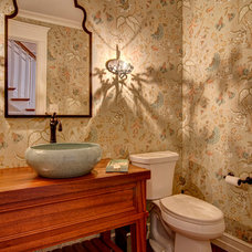 Eclectic Powder Room by Farinelli Construction Inc