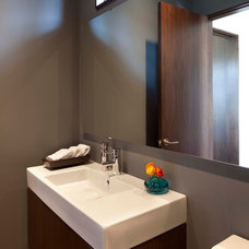 Contemporary Powder Room by Andrea Swan - Swan Architecture