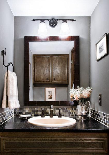 Traditional Powder Room by Allison Jaffe Interior Design LLC