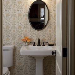 traditional powder room by Lindy Donnelly