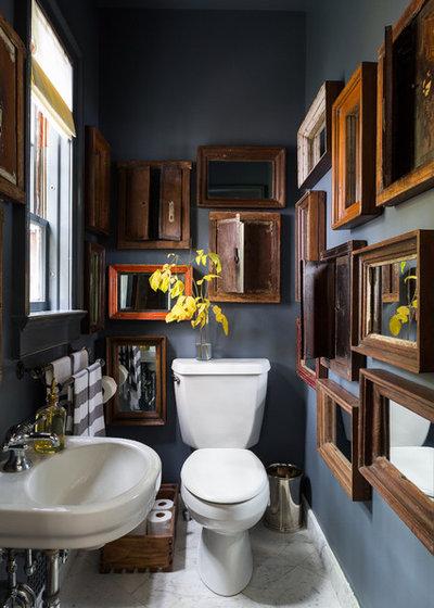 Mehr ist mehr warum nur ein spiegel im bad wenn man viele haben kann - Italienische badezimmer ...