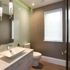 Contemporary Powder Room by VictorEric