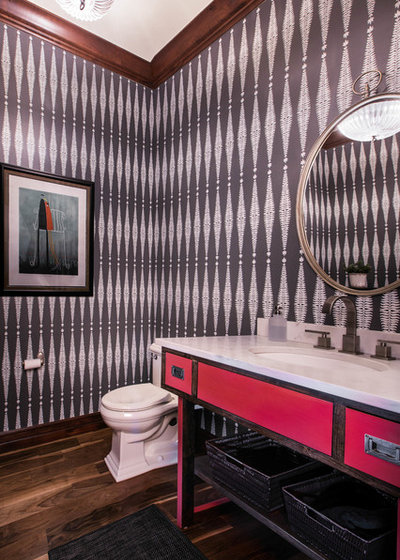 Eclectic Cloakroom by Ejay Interiors
