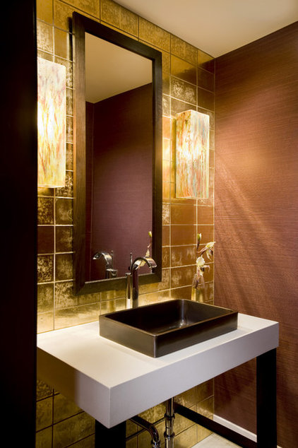 Contemporary Powder Room by Mary Courville Designs