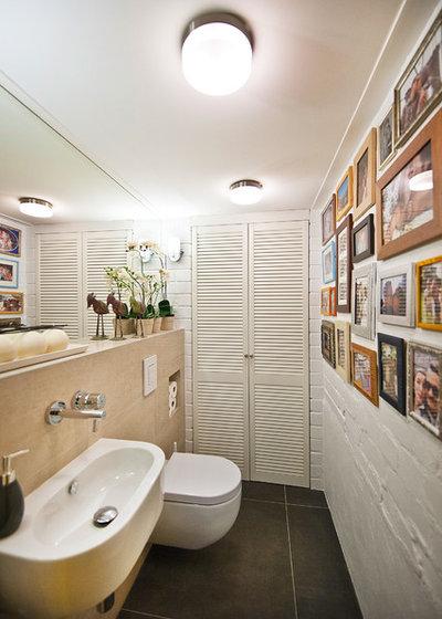 Eclectic Powder Room by Dalius & Greta Design