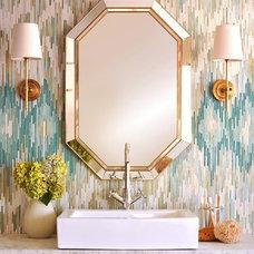 Eclectic Bathroom by Sara Baldwin Design