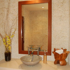 Eclectic Powder Room by Lori Gilder
