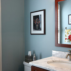 Contemporary Powder Room by NVS Remodeling & Design