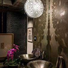 Contemporary Powder Room by Flegel's Construction Co., Inc.