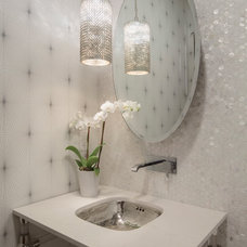 Transitional Powder Room by Southland Building  &  Remodel