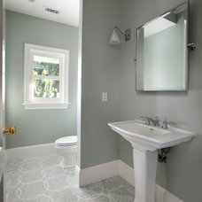 Traditional Powder Room by Chelsea Court Designs