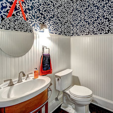 Traditional Powder Room by JH Designs
