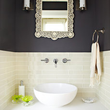 Transitional Powder Room by Lucy McLintic
