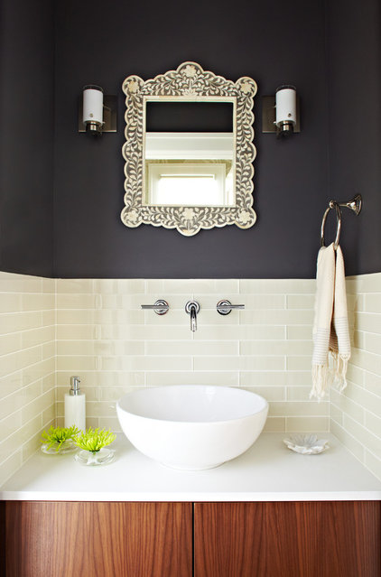 modern powder room by Lucy McLintic