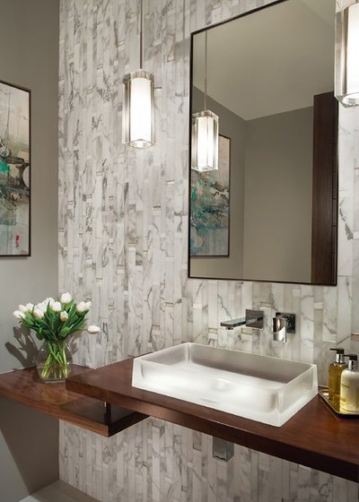 Contemporary Powder Room by Janet Brooks Design