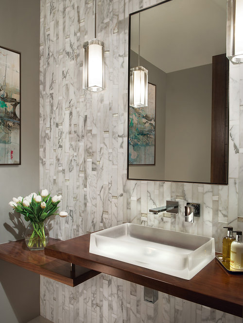 Best contemporary powder room design ideas remodel - Powder room remodel ideas ...