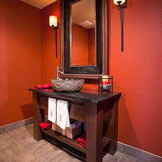 Contemporary Powder Room by HighCraft Builders