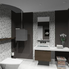 Modern Powder Room by NathalieTremblay - Atelier Cachet