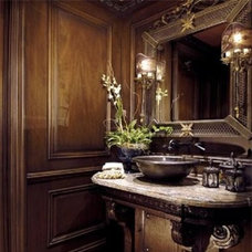 Traditional Powder Room by LUXE INTERIORS